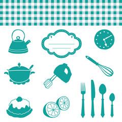 Küchen Grafiken Piktogramme