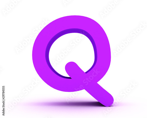 Q purple - Comic Sans MS