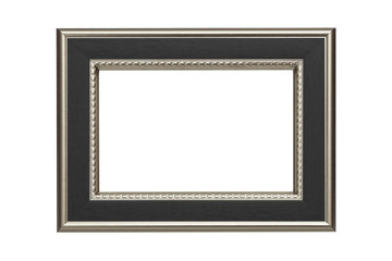 Silver-black frame isolated on white background