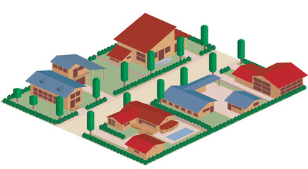 Residential district cartoon