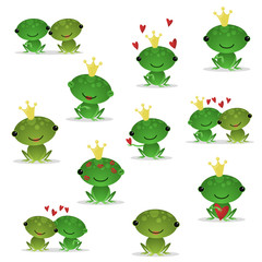 Cute vector frogs 1