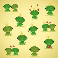 Cute vector frogs 2