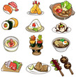 cartoon Japanese food icon