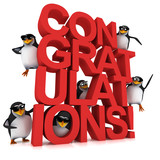 The 3d penguins would like to congratulate you