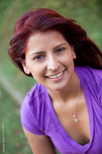 Woman portrait outdoors