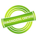 diagnostic certifié sur vignette verte poster