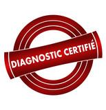 diagnostic certifié sur vignette rouge poster
