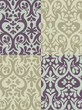 Damask Flower Pattern Wallpaper