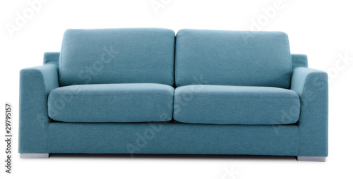 cutout blue couch - 29795157
