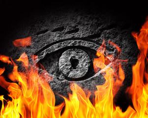 Stone fire eye