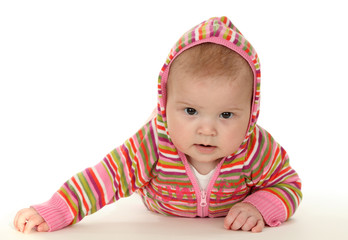Cute baby in colorful sweater