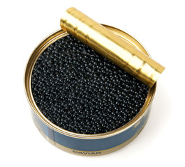 Caviar in metal can