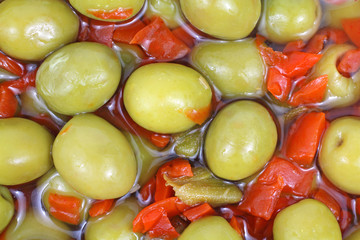 Close View Pitted Olives