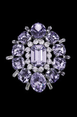 vintage sparkly purple brooch