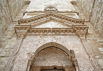 Castel del Monte in Italy - entrance facade (detail)
