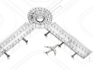 aeroporto illustrazione rendering 3d