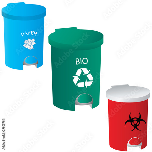 trash-red-green-blue vector
