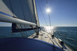 Italy, Sicily, Mediterranean sea, cruising on a sailing boat