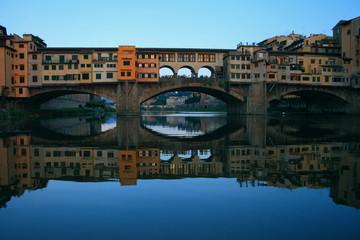 Ponte Vecchio, Renaioli, Sandmännchen, Firence, Arno