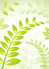 Background with plants