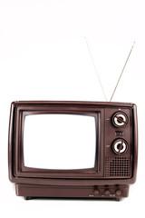 Vintage TV on white