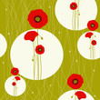 Abstract red poppy seamless pattern background