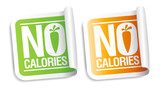 No calories stickers. poster