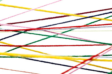 wool knitting string cord colorful background