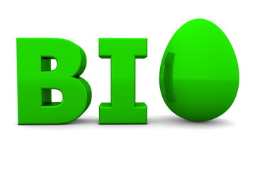 Egg Word BIO Glossy Green