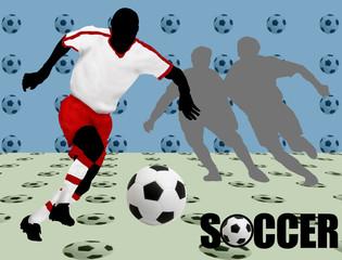 Soccer design poster