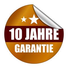 Sticker 10 Jahre Garantie