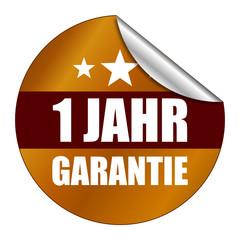 Sticker 1 Jahr Garantie