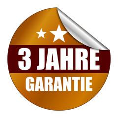 Sticker 3 Jahre Garantie