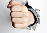 Fist broke paper poster