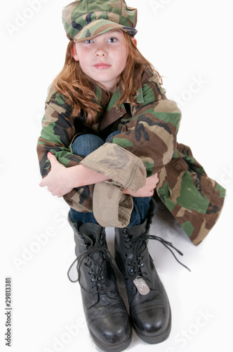 girl who dreams to serve in the military