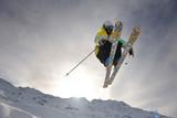 Fototapety extreme freestyle ski jump