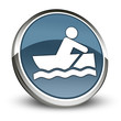 "Dark Blue 3D Style Icon ""Rowboating"""