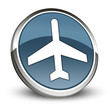 "Dark Blue 3D Style Icon ""Airport / Airplane"""