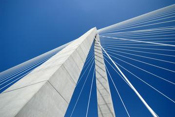 Detail of Arthur Ravenel Bridge in Charleston SC