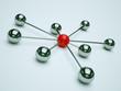 3d Rendering Netzwerk von oben
