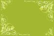 floral ocher green  artistic frame
