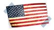drapeau américain avec scotch