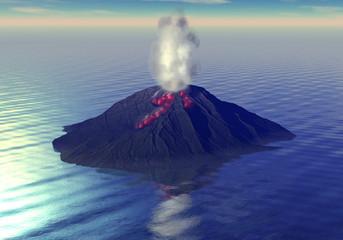 Isola vulcano lava