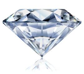Realistic diamond illustration