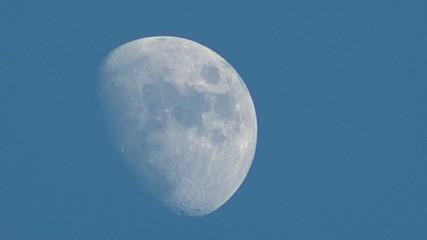 Luna bianca su cielo azzurro