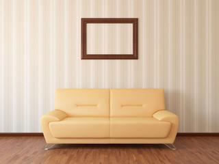 Sofa in rest room whit frame