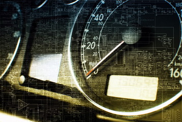Dash board, abstract technology background
