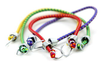 Colorful elastic ropes