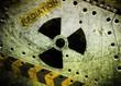 Radiation, industrial grunge background