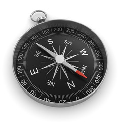 compass chrome on white background